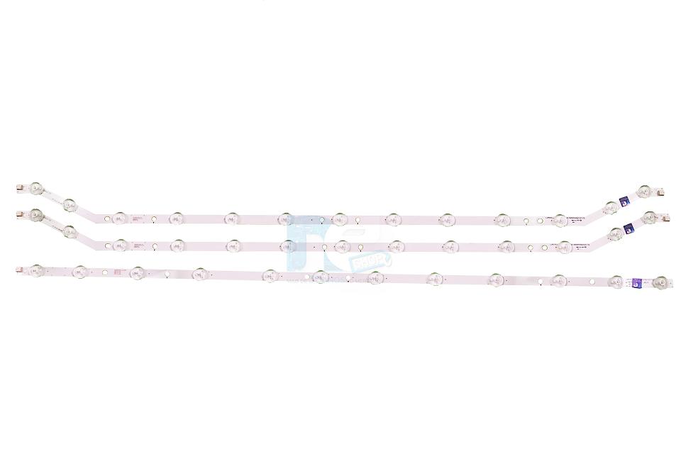 KIT BARRA DE LED SAMSUNG UN39FH5205G UN39FH5206G UN39FH5203G UN39FH5003 2 CURVA + 1 RETA
