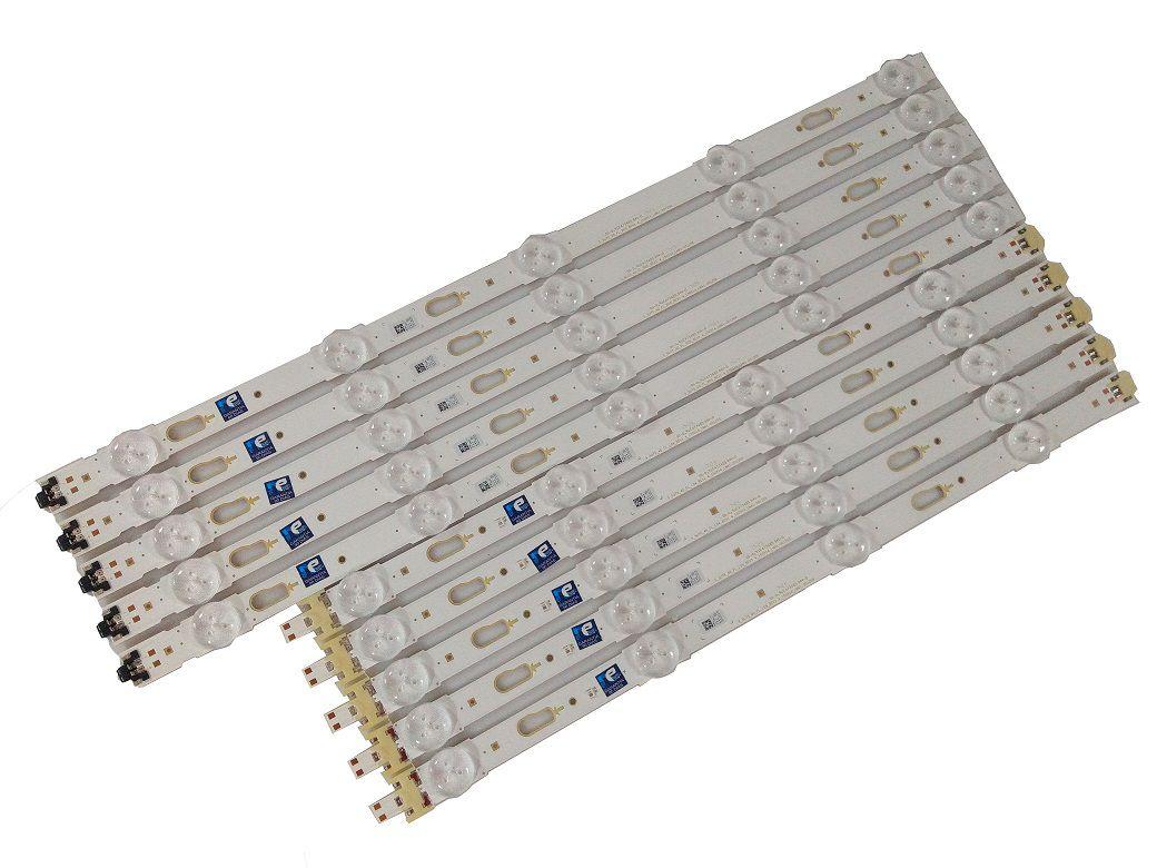 KIT BARRA DE LED SAMSUNG UN40JU6000/6500 UN40MU6100/6300 UN40KU6000G/6300 34791A + 34792A