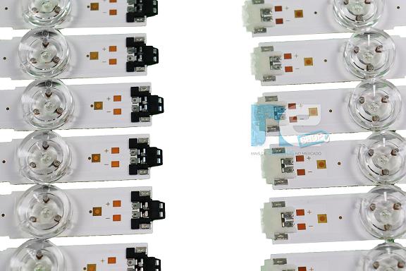 KIT BARRA DE LED SAMSUNG UN50MU6100G UN50KU6000G 39657A + 39658A