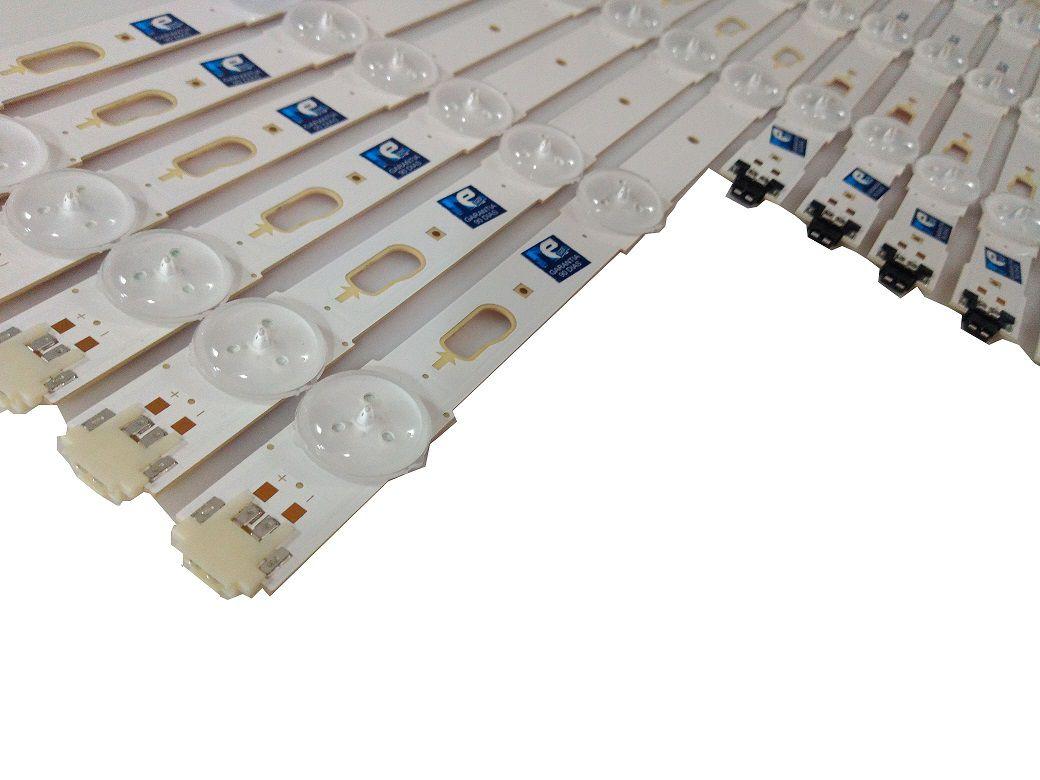 KIT BARRA DE LED SAMSUNG UN55KU6000 UN55KU6300 UN55MU6100 UN55MU6300 39659A + 39660A