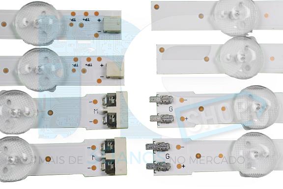 KIT BARRA DE LED SAMSUNG UN58H5200 UN58H5203 32771A + 32772A
