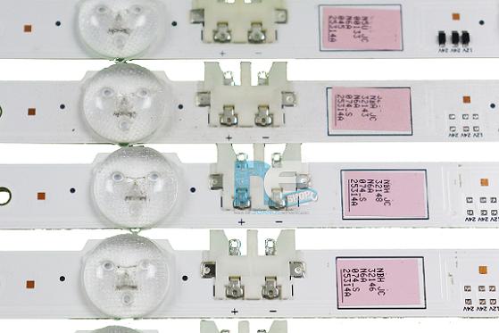 KIT BARRA DE LED SAMSUNG UN60F5500AG UN60F6100AG UN60F6400AG 25314A + 25315A