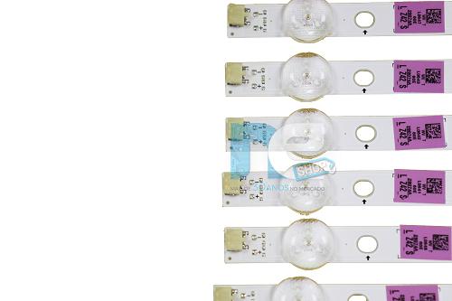 KIT BARRA DE LED SAMSUNG UN60FH6003G UN60H6103G 29704A + 29705A