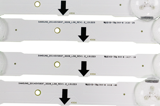 KIT BARRA DE LED SAMSUNG UN60H6300AG UN60H6400AG UN60J6300 30433A + 30434A