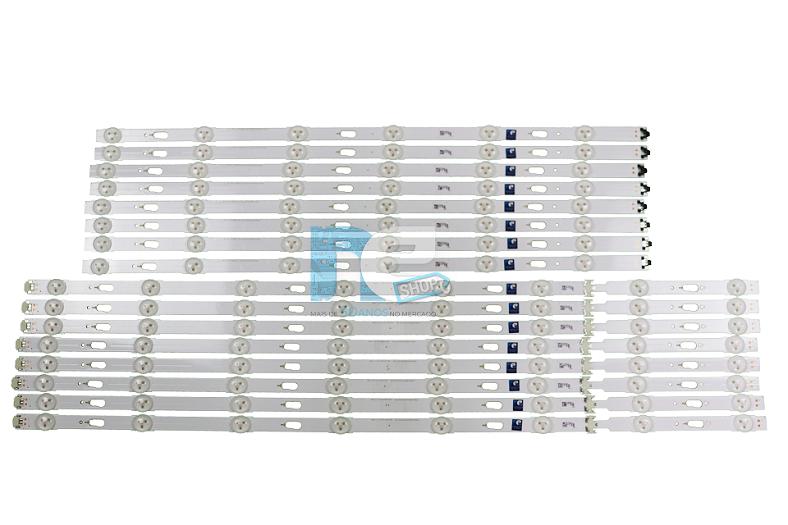 KIT BARRA DE LED SAMSUNG UN65MU6100G 39665A + 39666A