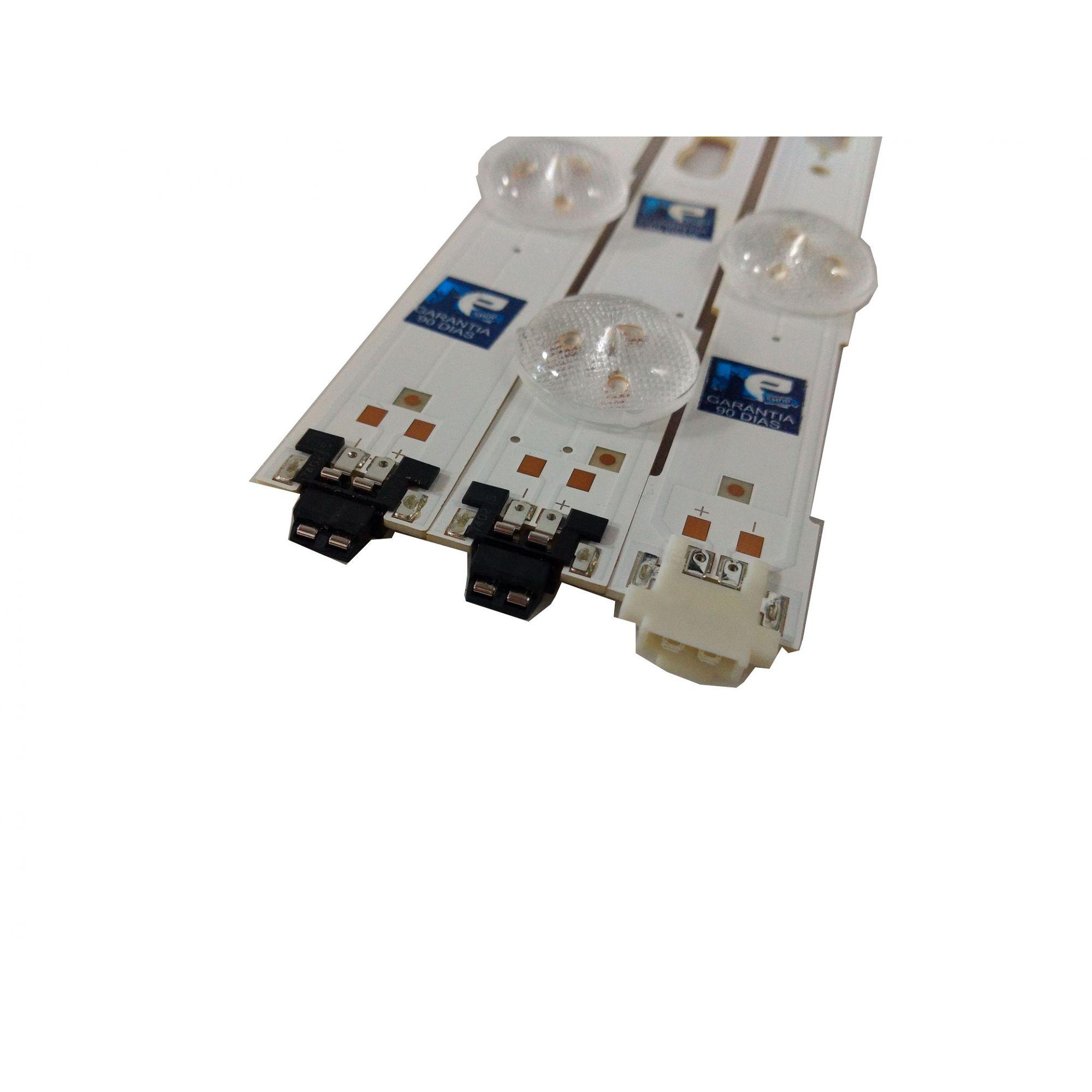 KIT BARRA DE LED SAMSUNG UN75MU6100G 34763A + 34764A + 34765A (27 BARRAS)