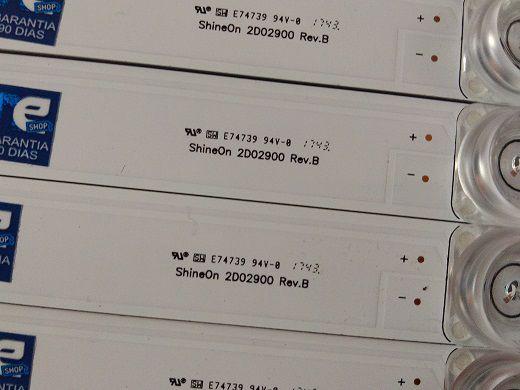 KIT BARRA DE LED TOSHIBA 49L2600 49U7800 L49S4900FS 49P2US