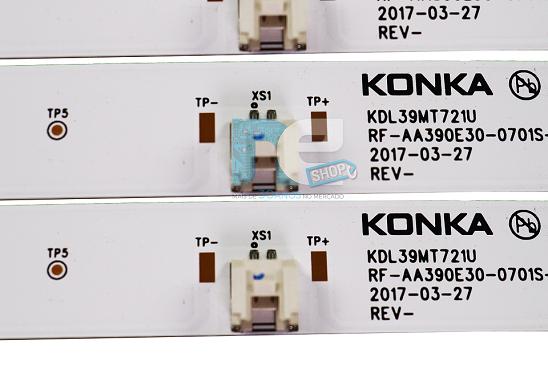 KIT BARRA DE LED TOSHIBA DL3959W KDL39MT721U