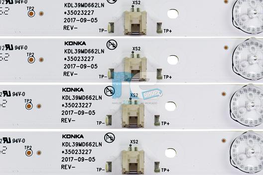 KIT BARRA DE LED TOSHIBA L39S3900FS KDL39MD662LN