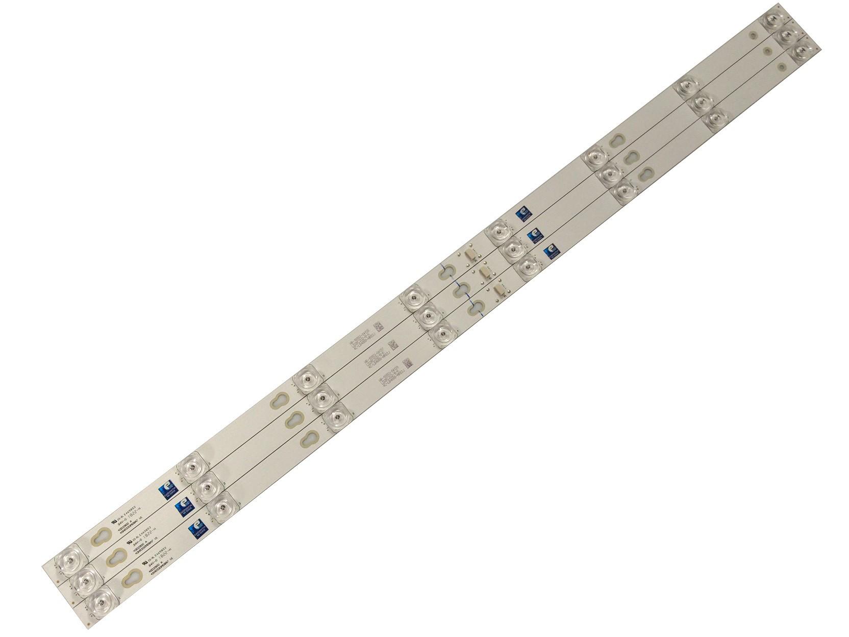 KIT BARRA DE LED TOSHIBA L40S4900FS (CUIDADO COM O TAMANHO DA BARRA)