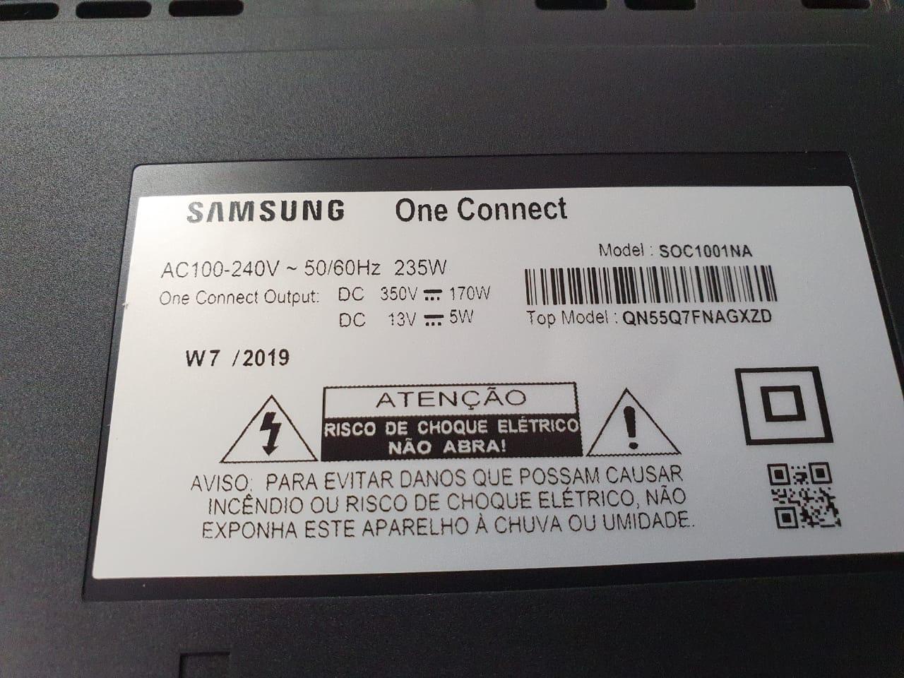 "ONE CONNECT SAMSUNG QN55Q7FNAGXZD QN65Q7FNAGXZD  ""SEMINOVO"" SEM CABO"