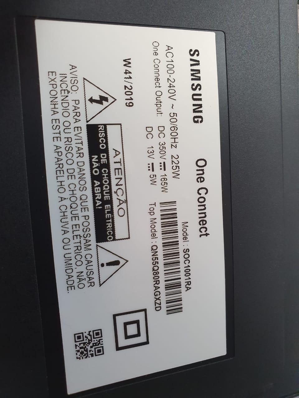 ONE CONNECT SAMSUNG QN55Q80RAGXZD QN65Q80RAGXZD  BN91-21091K NOVO C/CABO