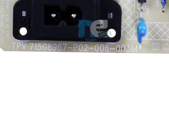 PLACA FONTE AOC 55U6295/78G 715G8967-P02-006-003M