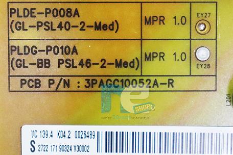 PLACA FONTE PHILIPS 46PFL7606 46PFL7606D/78 PLDG-P010A (USADA)