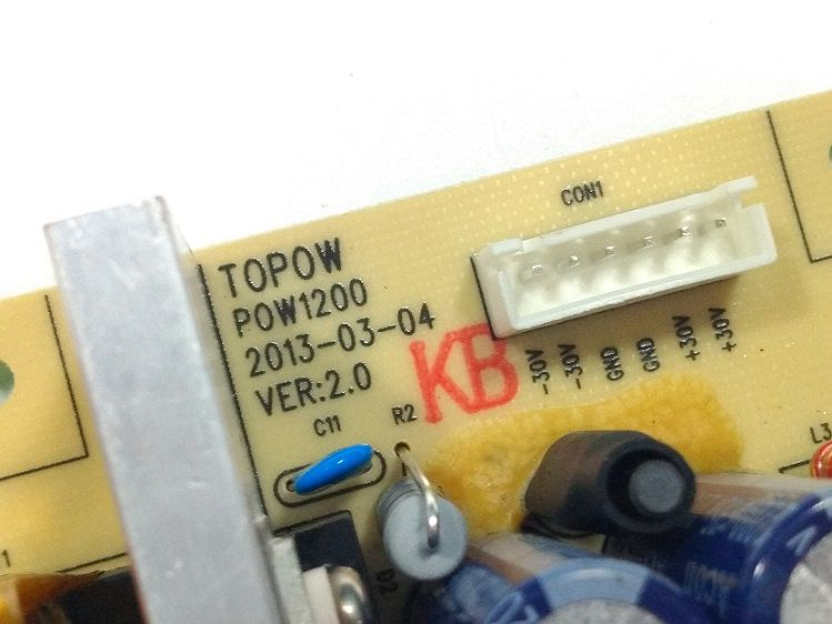 PLACA FONTE SOM PHILIPS FWT3600 POW1200 TOPOW
