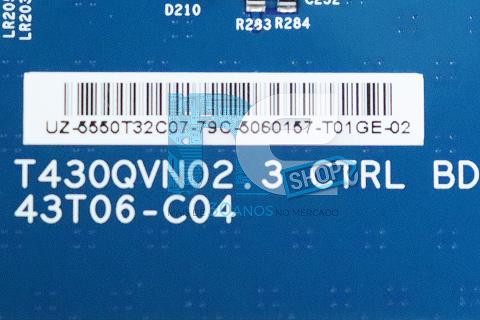 PLACA TCON PHILCO PH50A17DSGWA T430QVN02.3