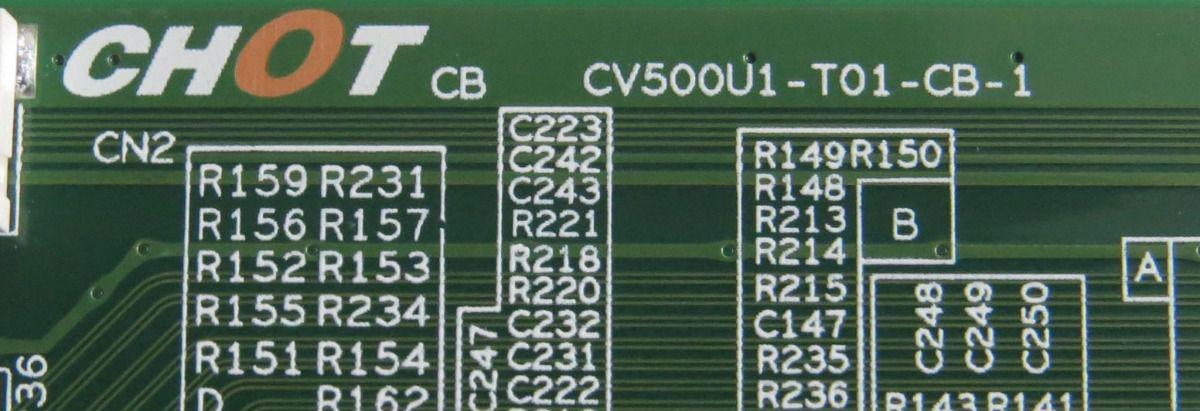 PLACA TCON TOSHIBA 50P65US = PHILIPS 50PUG6513/78 | CV500U1-T01-CB-1