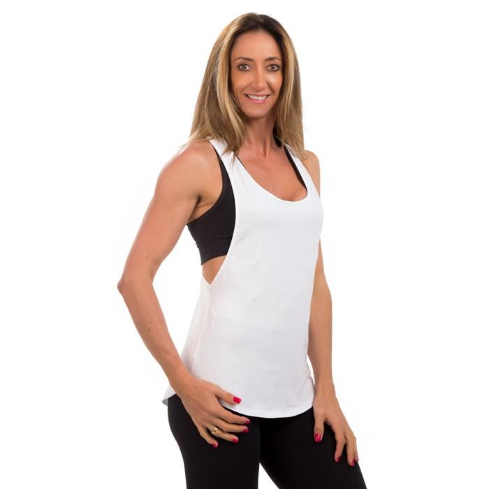 3902d2935 Camiseta REGATA CAVADA BRANCA - Xóia! Fitness
