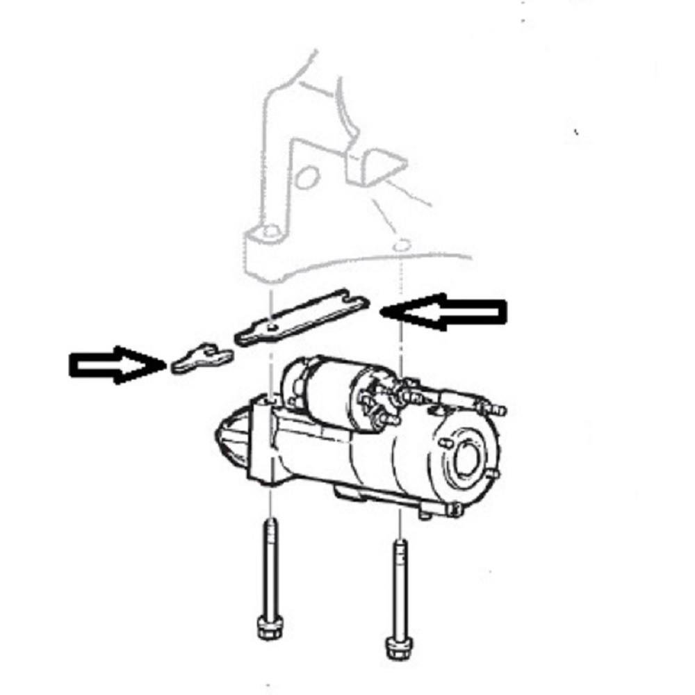 Calço Reto De Regulagem Do Motor De Partida Para S10 E Blazer Com Motor 4.3 V6 Vortec De 1996 A 2004 - Valor Unitário