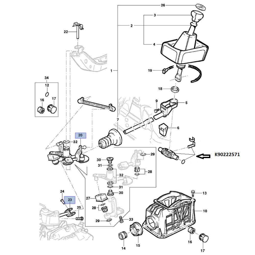 Eixo Articulador Da Alavanca De Cambio Manual Sistema Varão Corsa A, Celta, Tigra, Vectra A, Vectra B 1997 A 2005, Astra A, Astra B 1999 A 2000, Calibra,