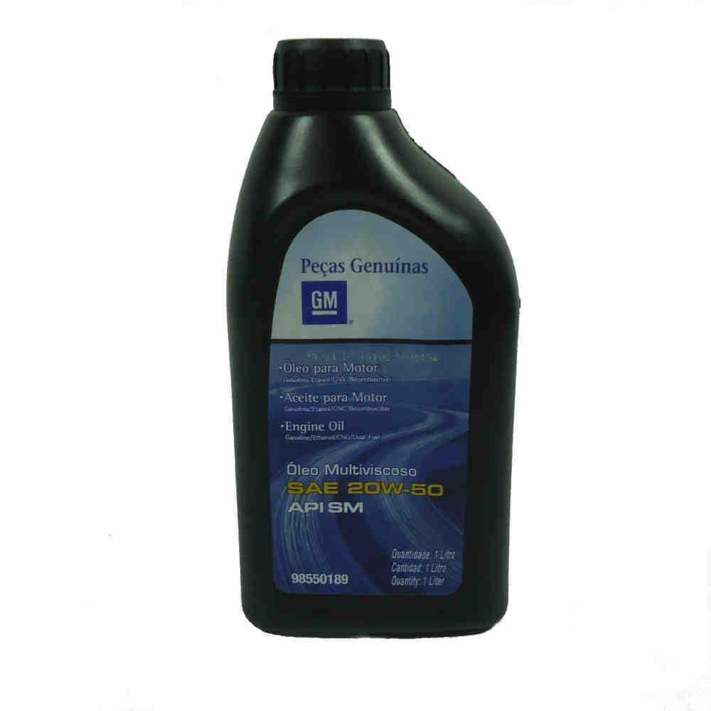 Óleo Lubrificante Mineral Sae 20W50 Api Sm Para Motores Gasolina E Alcool  - Litro