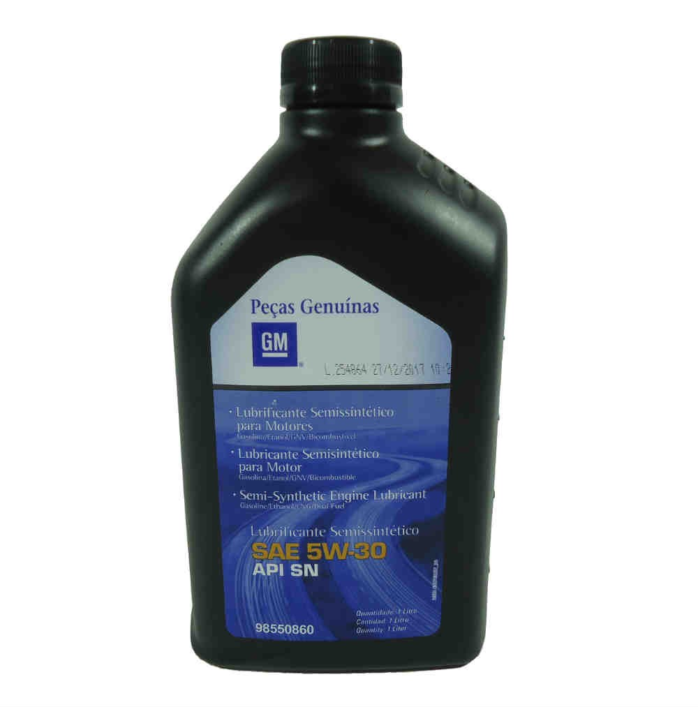 Óleo Lubrificante Semi Sintético Sae 5W30 Api Sn Para Motor Gasolina Alcool E Flex - 1 Litro
