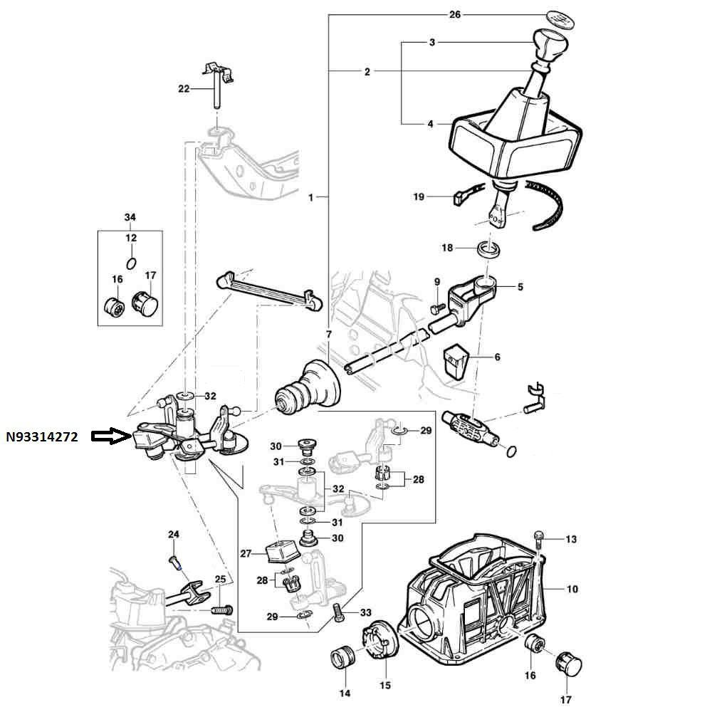 Trambulador Do Cambio Manual Para Corsa De 1994 A 2005, Celta De 2001 A 2005 E Tigra De 1998 A 2000 Todos Com Sistema Varão