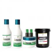 2 Tônicos Cresce Cabelo Extrato de Priorin + Shampoo + Condicionador + Máscara + Anabolizante 1KG