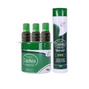 3 Tônicos Capilares (cresce cabelo) + Shampoo e Máscara para Cachos
