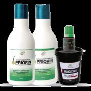 Tônico Cresce Cabelo Extrato de Priorin + Shampoo e Condicionador Cresce Cabelo Extrato de Priorin + Anabolizante Capilar 250g