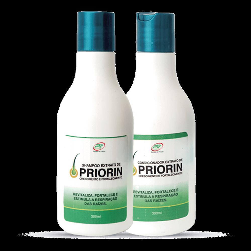 3 Tônicos Cresce Cabelo Extrato de Priorin + Shampoo e Condicionador Cresce Cabelo Extrato de Priorin