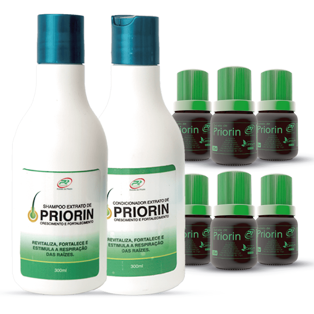 6 Tônicos Capilares (cresce cabelo) + Shampoo e Condicionador