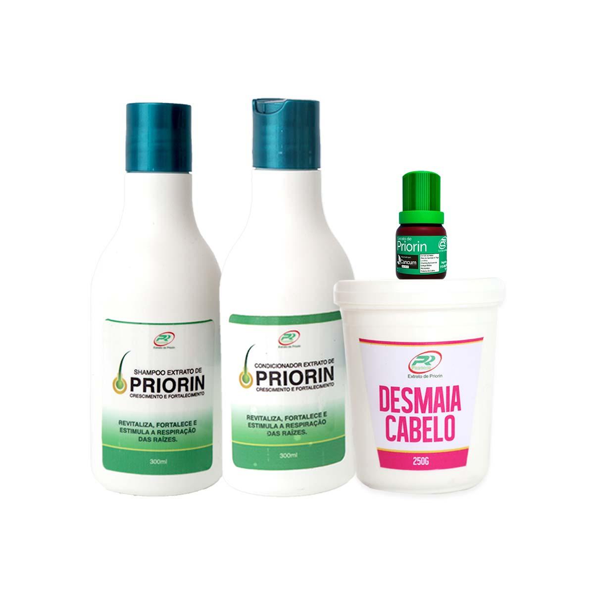 Tônico Capilar (cresce cabelo) + Shampoo e Condicionador + Desmaia Cabelo