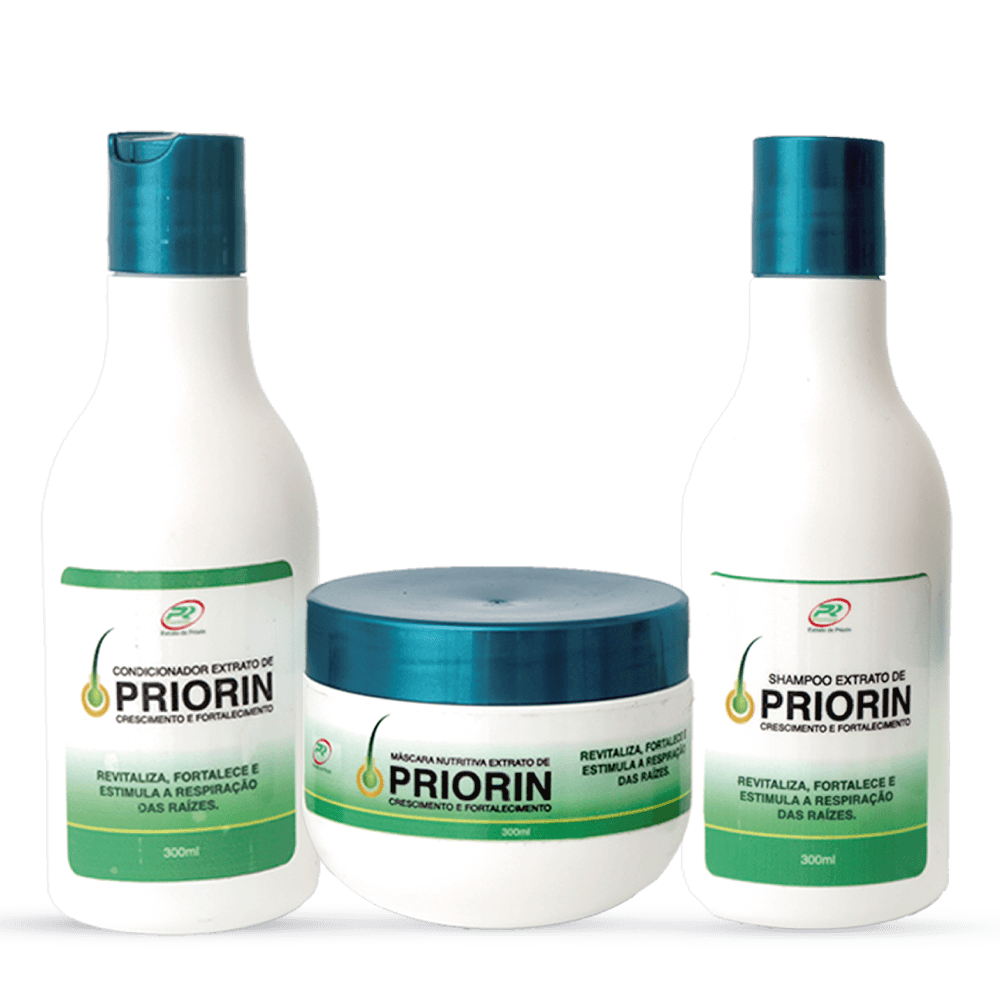 Shampoo e Condicionador Cresce Cabelo Extrato de Priorin + Máscara Nutritiva