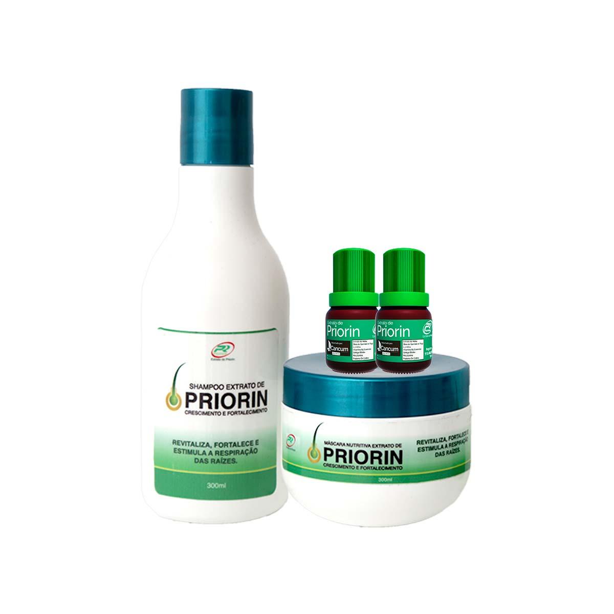 Shampoo, máscara Nutritiva 2 Tônicos Extrato de Priorin