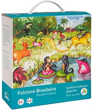 QUEBRA-CABEÇA GIGANTE FOLCLORE BRASILEIRO