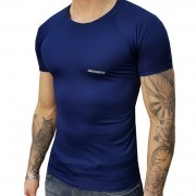 Camisa Manga Curta DryHead Azul Marinho