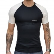 Camisa Manga Curta ThermoOne UV + 50 - Preta / Branca