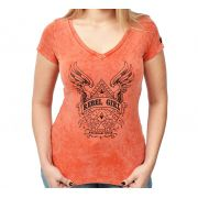 Camiseta Baby look Kallegari Rebel Girl