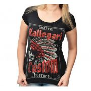 Camiseta Babylook Kallegari Indian Skull