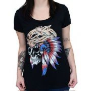 Camiseta Babylook Kallegari Indian Wolf