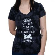 Camiseta Babylook Kallegari Keep Calm And Have Fun With Bigtrail