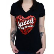 Camiseta Babylook Kallegari Speed Is My Passion