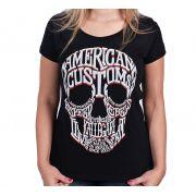 Camiseta Babylook Kallegari Word Skull