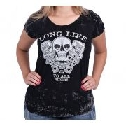 Camiseta Baby look Kallegari - Long Live