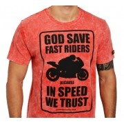 Camiseta Kallegari -  God Save Fast Rider