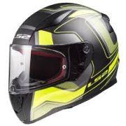 Capacete Ls2 Rapid Ff353 Carrera - Black/hv Yellow