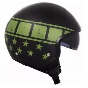 Capacete Ls2 Wave Kurt Black Green