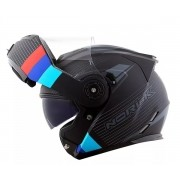 Capacete Norisk Ff345 Stroke Matt Black / Blue / Red