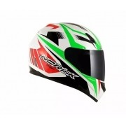 Capacete Norisk Ff391 Slide White Red Green